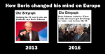 How Boris Johnson changed his mind