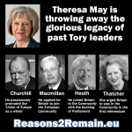 Theresa May is throwing away the Tory legacy