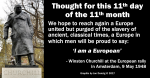 eu rope linked in churchill 11th day
