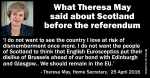 linked in what theresa may said about scotland