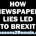 How newspaper lies led to Brexit