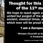 'I am a European' by Winston Churchill