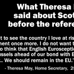 What Theresa May said about Scotland