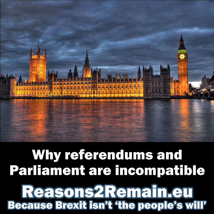 Why referendums and Parliament are incompatible