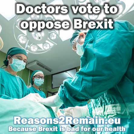Doctors vote to oppose Brexit