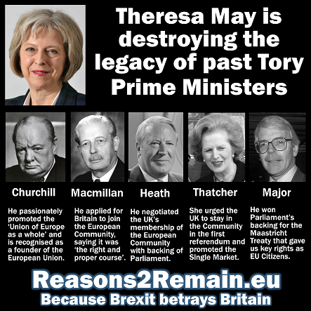 Destroying the legacy of past Tory Prime Ministers