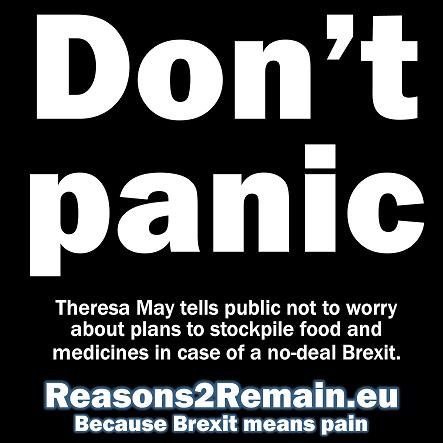 Don't panic, says Theresa May