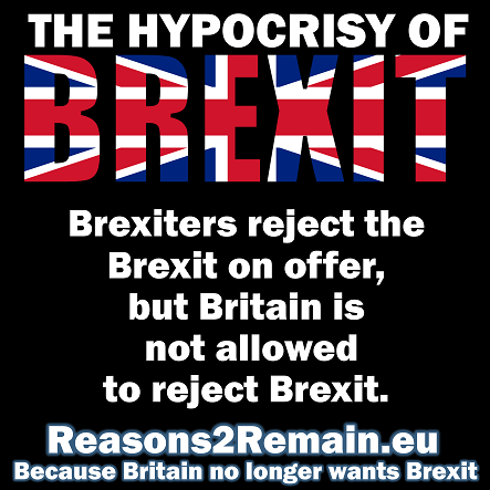 The hypocrisy of Brexit