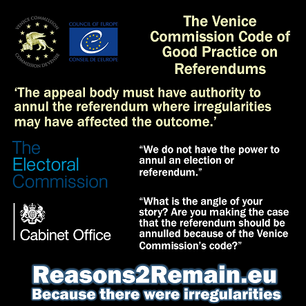 EU referendum broke code of good practice