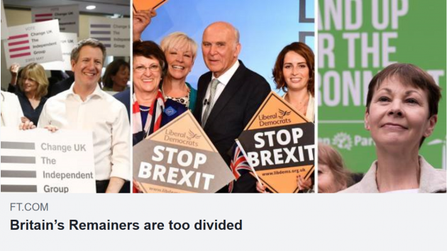 Remainers unite! Divided we fail
