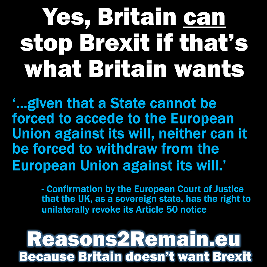 Yes, Britain can stop Brexit