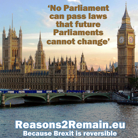Parliament cannot bind a future Parliament