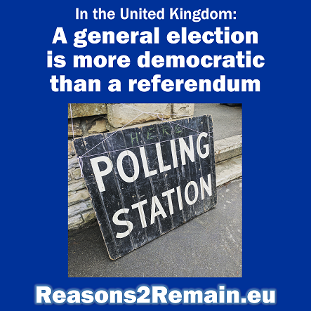 A general election is more democratic than a referendum