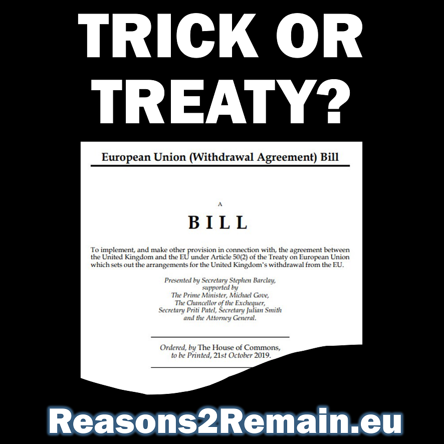 Trick or Treaty? The Brexit Withdrawal Bill