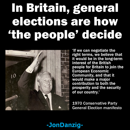 In Britain, general elections are how 'the people'​ decide