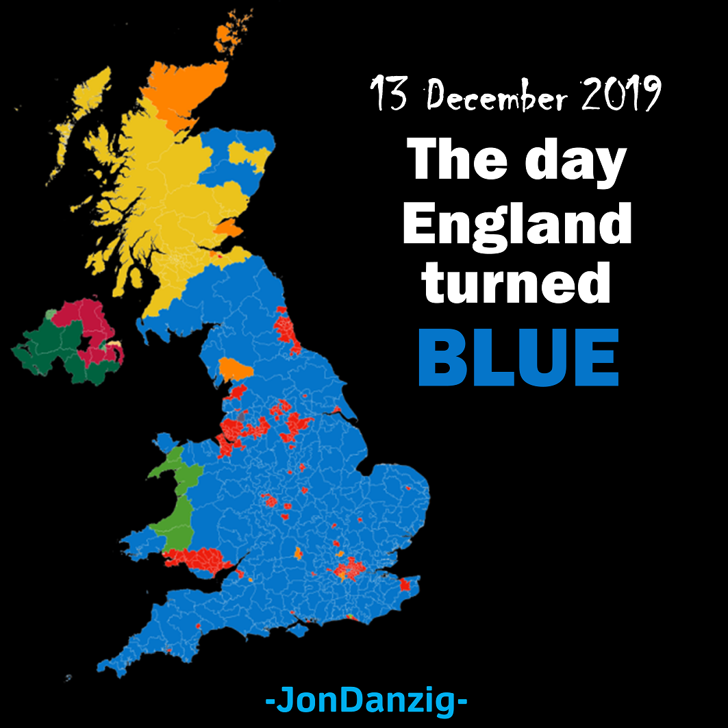 The day England turned blue
