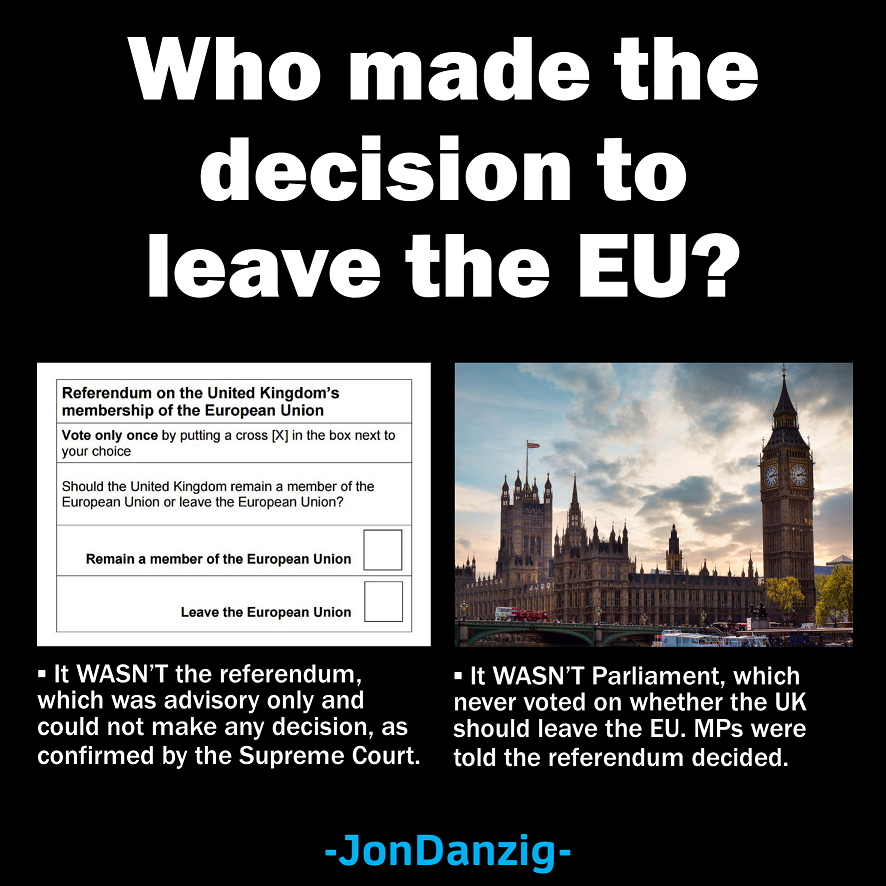 Who made the decision to leave the EU?