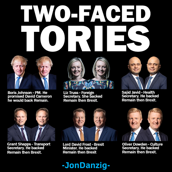 Two-faced Tories