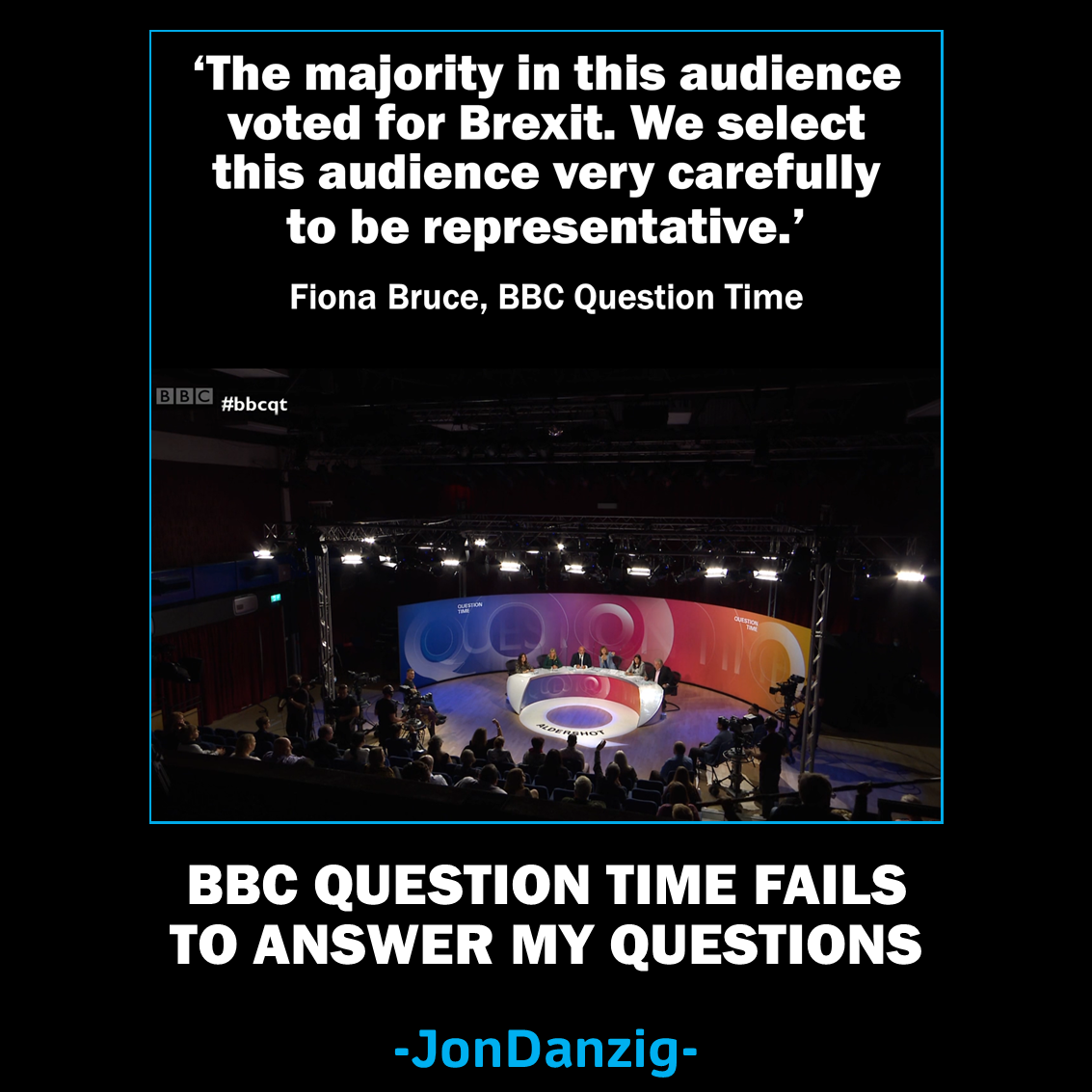 BBC Question Time fails to answer my questions